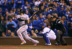 Michael Morse drives in the winning run in Game 7 of the World Series, 2014 World Series Champion Giants