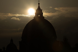 September 10, 2017 - Roma, RM, Italy - Reflections with the dome of the Basilica of St. Peter at Via della Conciliazione in Rome. (Credit Image: © Matteo Nardone/Pacific Press via ZUMA Wire)