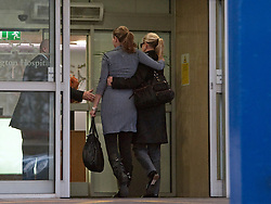 © Licensed to London News Pictures. 02/03/2012. London, UK. Princess Mabel of Orange-Nassau (Right, black top) arriving at The Wellington Hospital in London today (02/03/2012) to visit her husband Prince Friso. Prince Johan Friso, who has been in a coma since a skiing accident two weeks ago, has been flown from Austria to the London Hospital. Photo credit : Ben Cawthra/LNP