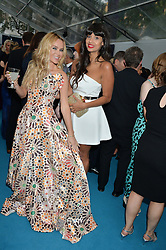 Left to right, AMANDA HOLDEN and JAMEELA JAMIL at the Glamour Women of The Year Awards held in Berkeley Square, London on 2nd June 2015.