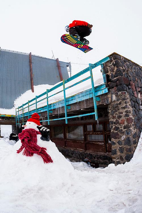 Johno Verity, Mount Elbrus, Russia.