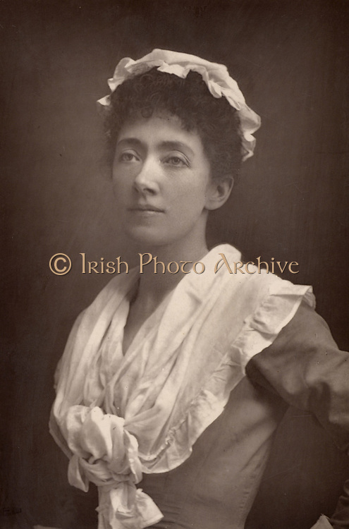 Marion Terry (1852-1930) English actress and sister of Ellen Terry and Fred Terry. She created the role of Mrs Erlynne in the first production of 'Lady Windermere's Fan' by Oscar Wilde (1892). From 'The Cabinet Portrait Gallery' (London, 1890-1894).  Woodburytype after photograph by W & D Downey.