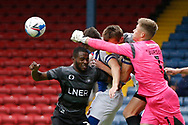 Josef Bursik of Doncaster Rovers  punches clear during the EFL Cup match between Blackburn Rovers and Doncaster Rovers at Ewood Park, Blackburn, England on 29 August 2020.