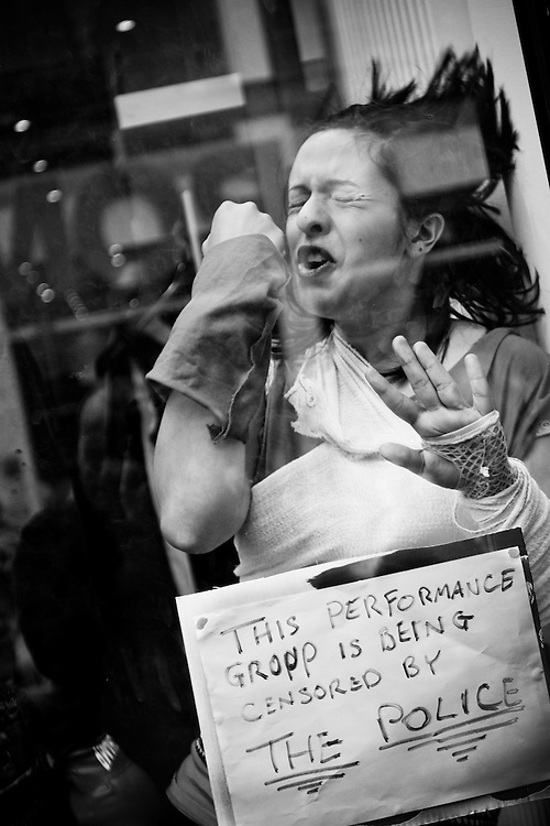 On Monday, during Streets Ahead, there were some complaints about the performers on Bold Street.  The shop window people had been censored.  They all protested as best they could.