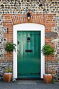 Old Tythe Cottage front door at Happisburgh, Norfolk, United Kingdom