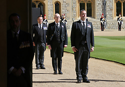 Service personnel ahead of the funeral of the Duke of Edinburgh at Windsor Castle, Berkshire. Picture date: Saturday April 17, 2021.