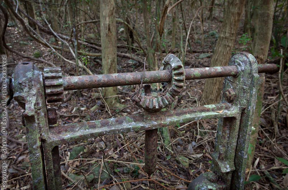 Machinery near Sieben Ruins, St John, USVI