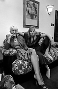 Paula Yates and Linda McCartney at Soho Square office 1980