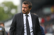 Fulham Manager Slavisa Jokanovic makes his way to the dugout. EFL Skybet championship match, Fulham v Sheffield Wednesday at Craven Cottage in London on Saturday 19th August 2017<br /> pic by Steffan Bowen, Andrew Orchard sports photography.