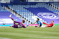 Football - 2020 / 2021 Sky Bet League One - Portsmouth vs. Accrington Stanley - Fratton Park<br /> <br /> Portsmouth's Charlie Daniels has a shot well saved during the League One fixture at Fratton Park <br /> <br /> COLORSPORT/SHAUN BOGGUST