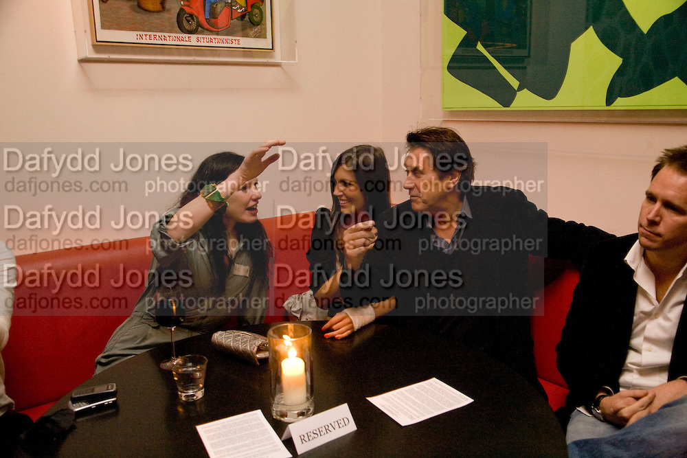 KATIE GRAND; AMANDA SHEPPARD; BRYAN FERRY.  Prada Congo Art Party hosted by Miuccia Pada and Larry Gagosian. The Double Club,  Torrens St. London EC1. The Double Club is A Carsten Holler project by Fondazione Prada. 10 February 2009. *** Local Caption *** -DO NOT ARCHIVE-© Copyright Photograph by Dafydd Jones. 248 Clapham Rd. London SW9 0PZ. Tel 0207 820 0771. www.dafjones.com.<br /> KATIE GRAND; AMANDA SHEPPARD; BRYAN FERRY.  Prada Congo Art Party hosted by Miuccia Pada and Larry Gagosian. The Double Club,  Torrens St. London EC1. The Double Club is A Carsten Holler project by Fondazione Prada. 10 February 2009.