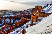 USA, Utah, Bryce Canyon National Park, sunrise at Inspiration Point, Digital Composite, HDR