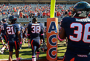 Oct. 22, 2011 - Charlottesville, Virginia - USA; Virginia Cavaliers players leave the field during an NCAA football game against the North Carolina State Wolfpack at the Scott Stadium. NC State defeated Virginia 28-14. (Credit Image: © Andrew Shurtleff