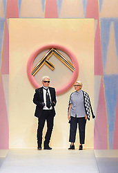 February 19, 2019.Karl Lagerfeld stylist, photographer, illustrator, artist, designer, pop and fashion superstar icon dies aged 85.Karl Lagerfeld and Silvia Fendi  .File dated 2017-09-21 (Credit Image: © Maule/Fotogramma/Ropi via ZUMA Press)