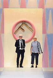 February 19, 2019.Karl Lagerfeld stylist, photographer, illustrator, artist, designer, pop and fashion superstar icon dies aged 85.Karl Lagerfeld and Silvia Fendi  .File dated 2017-09-21 (Credit Image: © Maule/Fotogramma/Ropi via ZUMA Press)