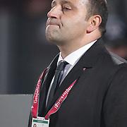 Genclerbirligi's coach Fuat Capa during their Turkish Superleague soccer match Genclerbirligi between Fenerbahce at the 19 Mayis stadium in Ankara Turkey on Friday 25 November 2011. Photo by TURKPIX