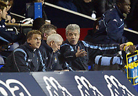 Photograph: Scott Heavey.<br /> Tottenham Hotspur v Manchester City. FA Cup Fourth Round Replay. 04/02/2004.<br /> Kevin Keegan can hardly watch as his team claw their way back to 3-2 in the second half