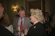 David Tredinnick MP and Dame Marian Roe, Loving Olivia: My Life with My Autistic Daughter by Liz Astor. English Speaking Union. London. 9 May 2006. ONE TIME USE ONLY - DO NOT ARCHIVE  © Copyright Photograph by Dafydd Jones 66 Stockwell Park Rd. London SW9 0DA Tel 020 7733 0108 www.dafjones.com