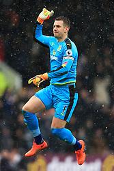 12th February 2017 - Premier League - Burnley v Chelsea - Burnley goalkeeper Thomas Heaton celebrates their 1st goal - Photo: Simon Stacpoole / Offside.