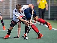 AMSTELVEEN -  Tijn Lissone (Amsterdam)  tijdens de hockey hoofdklasse competitiewedstrijd  heren, Amsterdam-HC Tilburg (3-0).  COPYRIGHT KOEN SUYK