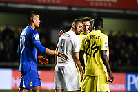 Villarreal CF's E. Bailly, Areola and Real Madrid's Benzema during La Liga match. December 13, 2015. (ALTERPHOTOS/Javier Comos)