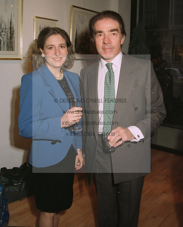 The EARL & COUNTESS ALEXANDER OF TUNIS, at an exhibition in London on April 15th 1997.LXP 30