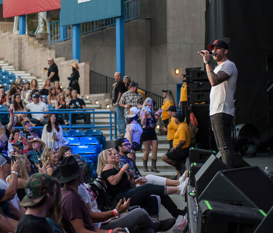 Tyler Rich performing at Pacific Amphitheatre on Wednesday, July 27, 2017.  (Photo by Miguel Vasconcellos, Courtesy of OC Fair and Event Center)