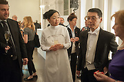 MARIKO MORI; Keiichi Hayashi JAPANES AMBASSADOR IN LONDON, Mariko Mori opening, Royal Academy Burlington Gardens Gallery. London. 11 December 2012.