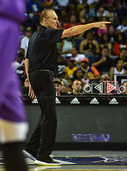 July 6, 2018 - Oakland, California, United States - Ball Hogs Coach Rick Barry on the sidelines against the Ghost Ballers during Week 3 of the BIG3 3-on-3 basketball league at Oracle Arena. (Credit Image: © Debby Wong via ZUMA Wire)