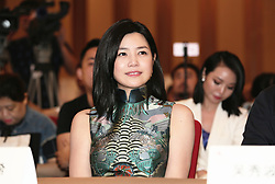 August 3, 2017 - Foshan, Foshan, China - Foshan, CHINA-August 3 2017: (EDITORIAL USE ONLY. CHINA OUT) ..Chinese Actress Michelle Chen attends the press conference of a television show in Foshan, south China's Guangdong Province, August 3rd, 2017. (Credit Image: © SIPA Asia via ZUMA Wire)