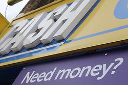 Sign on loanshop or pawnshop