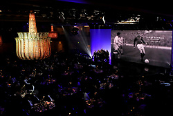 A tribute to Tommy Gemmell on the big screen during the Professional Footballers' Association Awards 2017 at the Grosvenor House Hotel, London