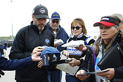 October 19, 2018 - Kansas City, Kansas, United States of America - Jimmie Johnson (48) signs autographs for fans prior to practice for the Hollywood Casino 400 at Kansas Speedway in Kansas City, Kansas. (Credit Image: © Justin R. Noe Asp Inc/ASP via ZUMA Wire)