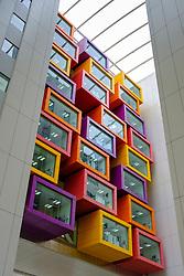 Interior view of new Queen Elizabeth University hospital in Glasgow , United Kingdom