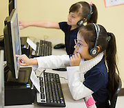 Students in technology class at Walnut Bend Elementary school, February 6, 2013.