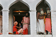 A gathering of Sadhus (Hindu ascetics) during the Kumbh Mela festival, Ujjain, Madhya Pradesh, India. The Kumbh Mela festival is a sacred Hindu pilgrimage held 4 times every 12 years, cycling between the cities of Allahabad, Nasik, Ujjain and Hardiwar. Kumbh Mela is one of the largest religious festivals on earth, attracting millions from all over India and the world. Past Melas have attracted up to 70 million visitors.