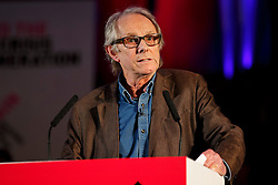 © Licensed to London News Pictures. 17/03/2015. LONDON, UK. Ken Loach delivering a speech during 'Homes for Britain' rally at Methodist Central Hall in London on Tuesday, 17 March 2015. Photo credit : Tolga Akmen/LNP