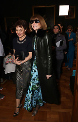 Helen McCrory (left) and Dame Anna Wintour on the front row during the Erdem Autumn/Winter 2019 London Fashion Week show at the National Portrait Gallery in central London.