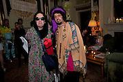 Philip Sallon; NEERAJ SHARMA, Svletlana and Jawek's Asylum seekers arranged marriage valentines party. Home House. 12 February 2010<br /> Philip Sallon; NEERAJ SHARMA, Svletlana and Jawek's Asylum seekers arranged marriage valentines party. Home House. 12 February 2010 *** Local Caption *** -DO NOT ARCHIVE-© Copyright Photograph by Dafydd Jones. 248 Clapham Rd. London SW9 0PZ. Tel 0207 820 0771. www.dafjones.com.