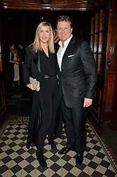 TANIA BRYER and ROD BARKER at the Tunnel of Love art and fashion auction and dinner in aid of the British Heart Foundation held at One Mayfair, London on 12th November 2013.