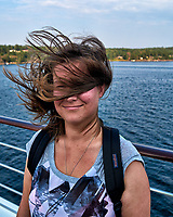 Blowing in the Wind - Departing Stockholm on the MV Explorer. Image taken with a Leica X2 camera (ISO 100, 24 mm, f/5, 1/640 sec