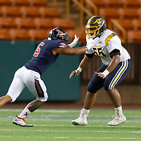 (Photograph by Bill Gerth/ for Max Preps11/1/19) Punahou (HI) vs No. 6 St. Louis (HI) in a neutral football game at Aloha Stadium, Honolulu HI on 11/1/19. <br /> (St. Louis 21 Punahou 14)
