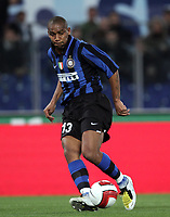 passaggio di Maicon a Crespo (Inter)<br /> Lazio vs Inter<br /> Campionato di Calcio Serie A 2007/2008<br /> Stadio Olimpico, 29/03/2008<br /> Photo Antonietta Baldassarre Inside