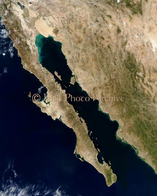Gulf of California, satellite view