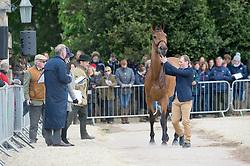 Wettstein Nicola, (ECU), Nadeville Merze<br /> First Horse Inspection - Mitsubishi Motors Badminton Horse Trials <br /> Badminton 2015
