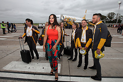 December 17, 2018 - Buenos Aires, Buenos Aires, Argentina - El Palomar Airport at the beginning of international operations. The low cost airline Flybondi starts its operations between Buenos Aires and Asuncion, Paraguay. (Credit Image: © Claudio Santisteban/ZUMA Wire)