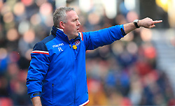 Stoke City manager Paul Lambert gestures on the touchline during the Premier League match at the bet365 Stadium, Stoke.