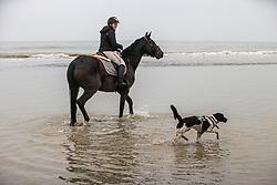 Strand wandeling, De Keersmaecker Jolien, Roxy<br /> Oostduinkerke Bad 2020<br /> © Hippo Foto - Dirk Caremans<br /> 29/11/2020