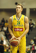 David Barlow in action for Australia during the Ramsay Shield, Australia Post Boomers v New Zealand, Game 2, 2008.  Played at the State Netball & Hockey Centre. Australian Post Boomers defeated New Zealand. .Photo: Joel Strickland / SMP Images.Use information: This image is intended for Editorial use only (e.g. news or commentary, print or electronic). Any commercial or promotional use requires additional clearance.
