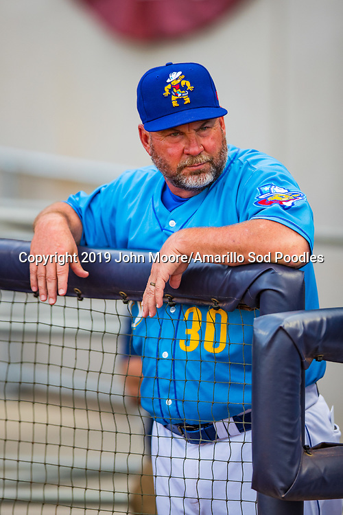 Amarillo Sod Poodles Manager Phillip Wellman against the Tulsa Drillers during the Texas League Championship on Wednesday, Sept. 11, 2019, at HODGETOWN in Amarillo, Texas. [Photo by John Moore/Amarillo Sod Poodles]